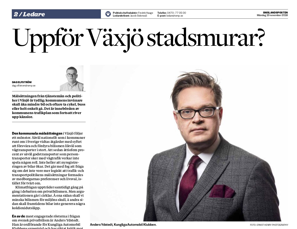 Sydsvenskans chefredaktor dod 3